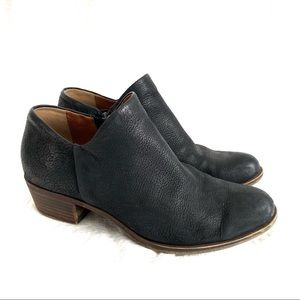 Lucky Brand Brixlee Black Leather Booties
